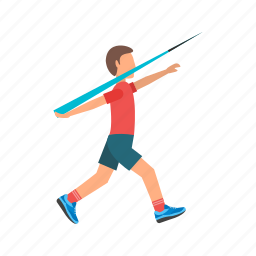 athlete, athletics, games, javelin, olympic, sport, throw icon