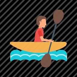 boat, championship, crew, kayak, lake, rowing, sport icon