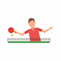 action, ball, ping, pong, racket, table, tennis icon