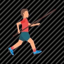 athlete, bar, field, jump, olympic, pole, vault icon