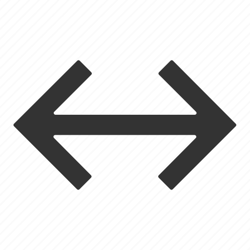 arrow, double, enlarge, left, right icon
