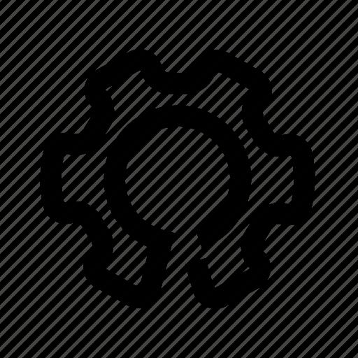 cog, gear, oneline, settings icon
