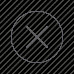 cancel, close, delete, exit, minus, remove, trash icon