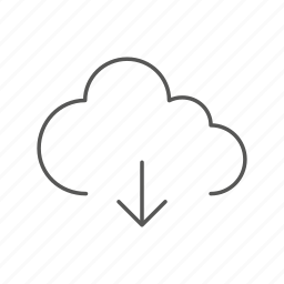cloud, data, download, server, storage, upload icon