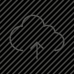 cloud, network, server, storage, up, upload icon