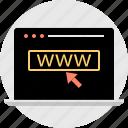 arrow, click, technology, www icon