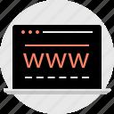 laptop, technology, web, www icon