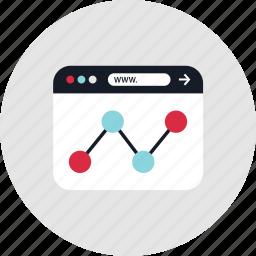 analytics, data, graph, online icon