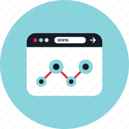 analytics, data, graphic icon