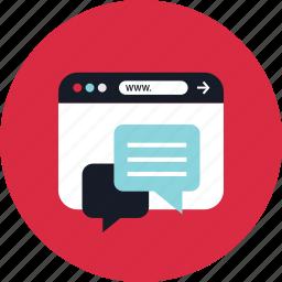 chat, conversation, online, talk icon