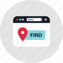 find, look, online, search icon