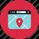 map, online, pin, web