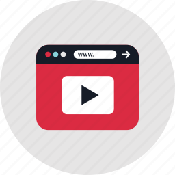 online, play, www, youtube icon