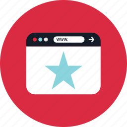 browser, favorite, star, www icon