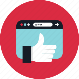 browser, thumbs, up, www icon