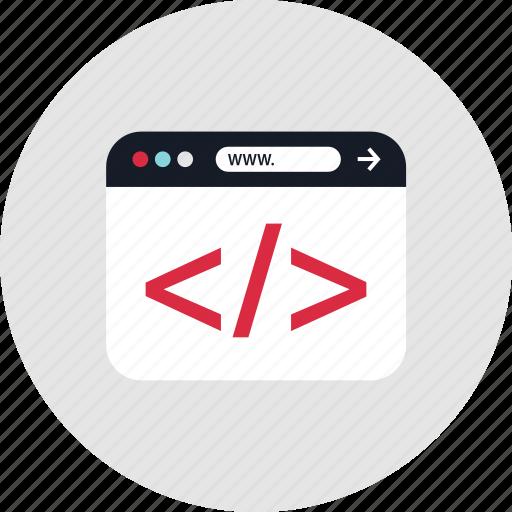 coding, development, progrmming, www icon