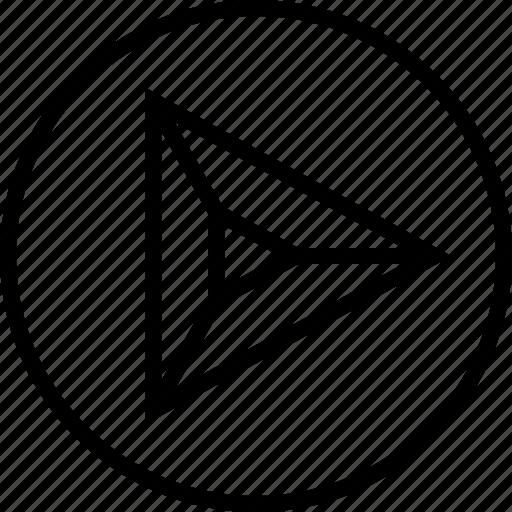 arrow, go, point, right icon