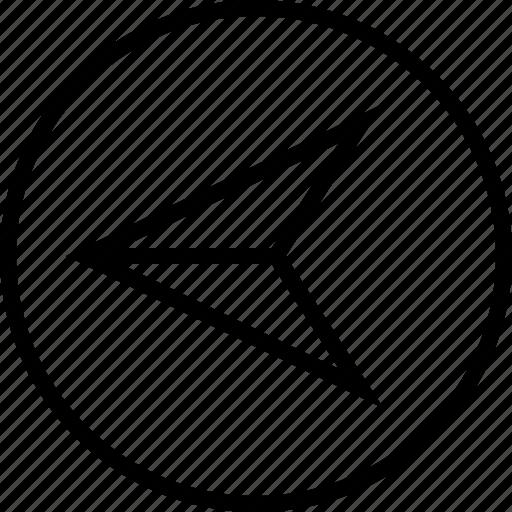 arrow, direction, gps, left icon