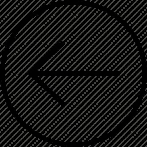 arrow, exit, left, point icon
