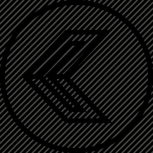 arrow, direction, left, slee icon