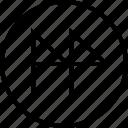 arrow, direction, right, sleek icon