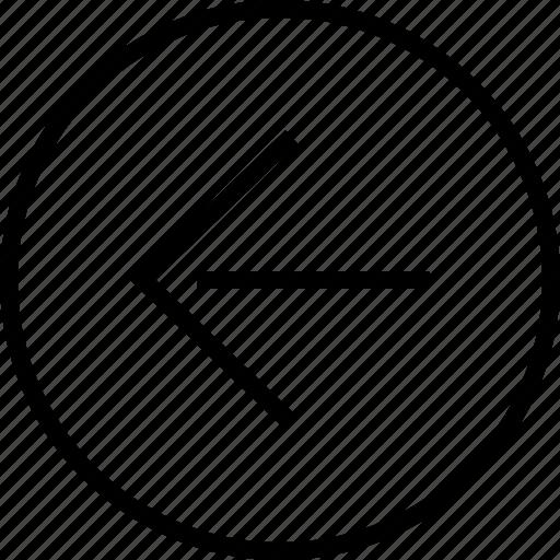 arrow, left, point, sleek icon