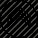 arrow, direction, sleek, up icon