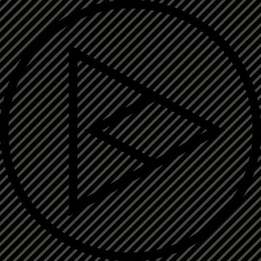 arrow, point, right, triangle icon