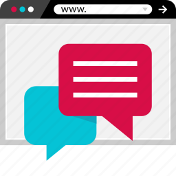 browser, chat, conversation, online, sms, talk, web icon