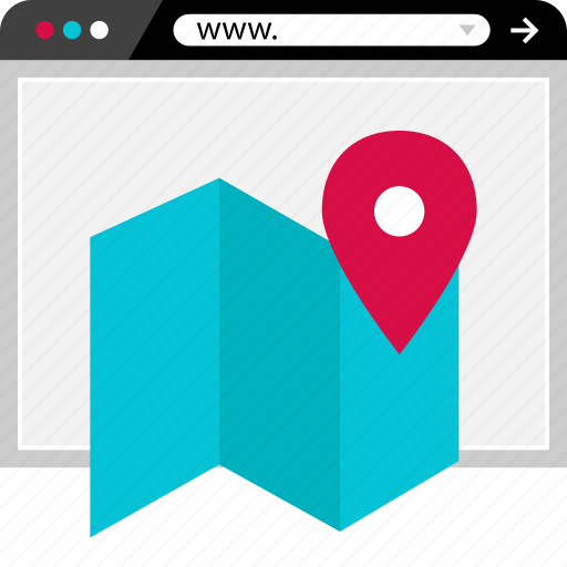 browser, find, gps, location, map, online, web icon