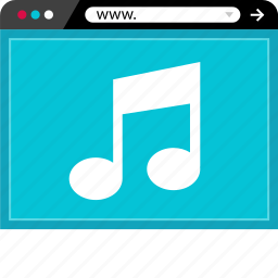 browser, media, music, online, play, video, web icon