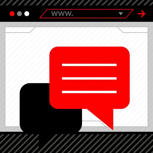 chat, conversation, facebook, talk icon