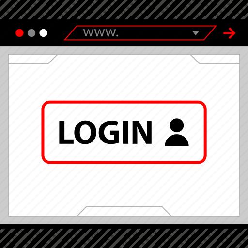 login, person, user icon
