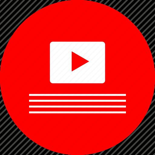 play, tube, youtube icon
