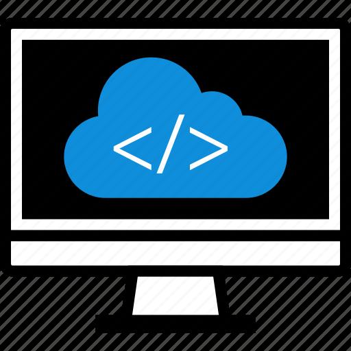 cloud, code, development, web icon