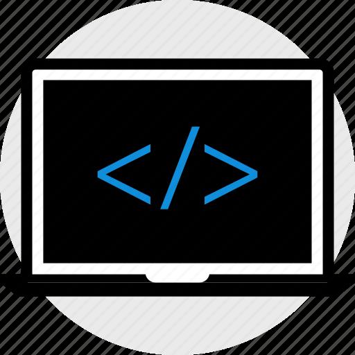 coding, dev, laptop, web icon