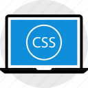 css, development, laptop, web icon