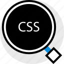 css, development, find, web icon
