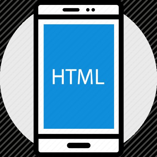html, phone, web icon