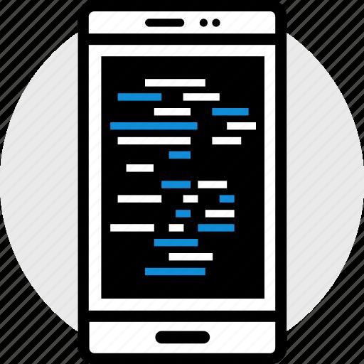 code, development, lines, web icon