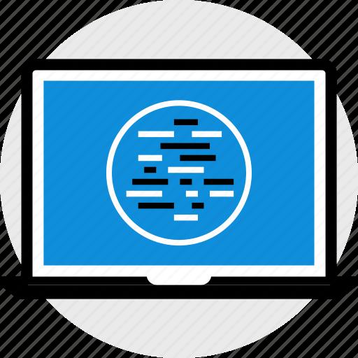code, lines, programming, web icon