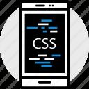 css, phone, web icon