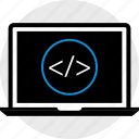 development, laptop, web icon