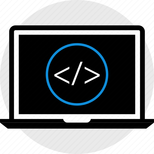 development, laptop, web icon