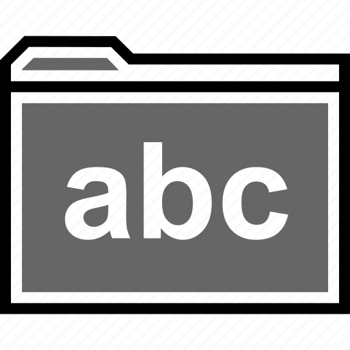 abc, archive, folder icon