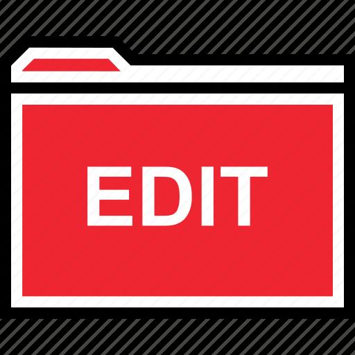 edit, file, folder icon