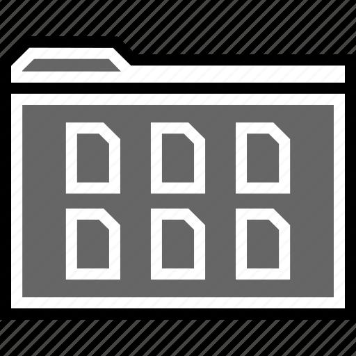 archive, file, folder, six icon