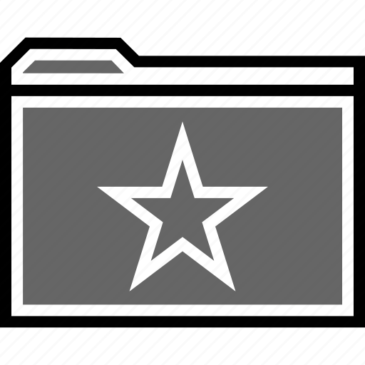 favorite, file, folder icon