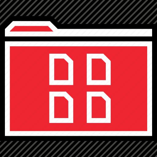 file, folder, four icon