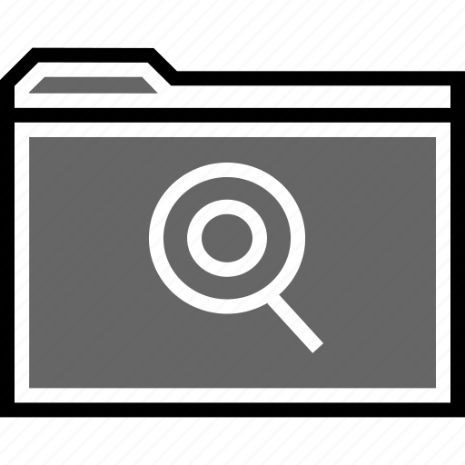 file, find, look icon